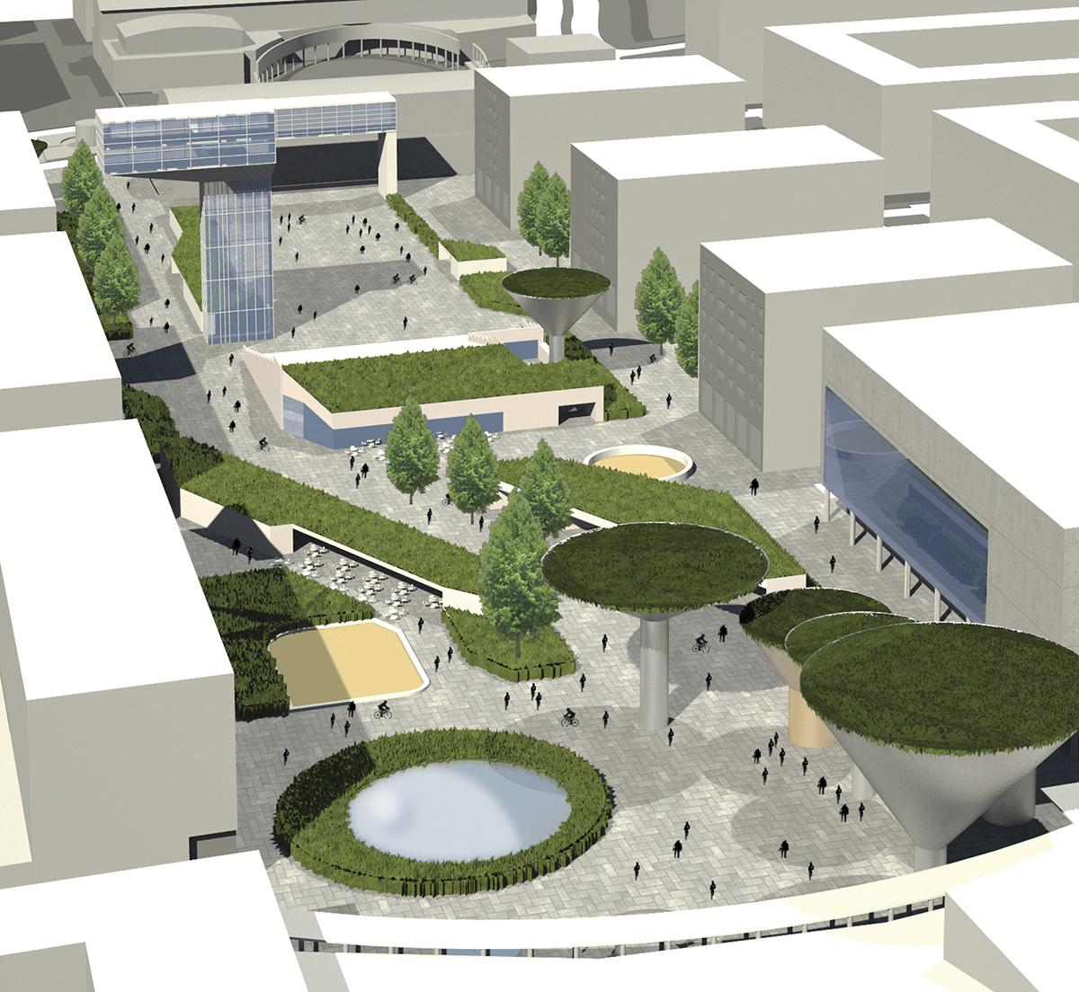 Concurso para la remodelación de la plaza central de Tres Cantos