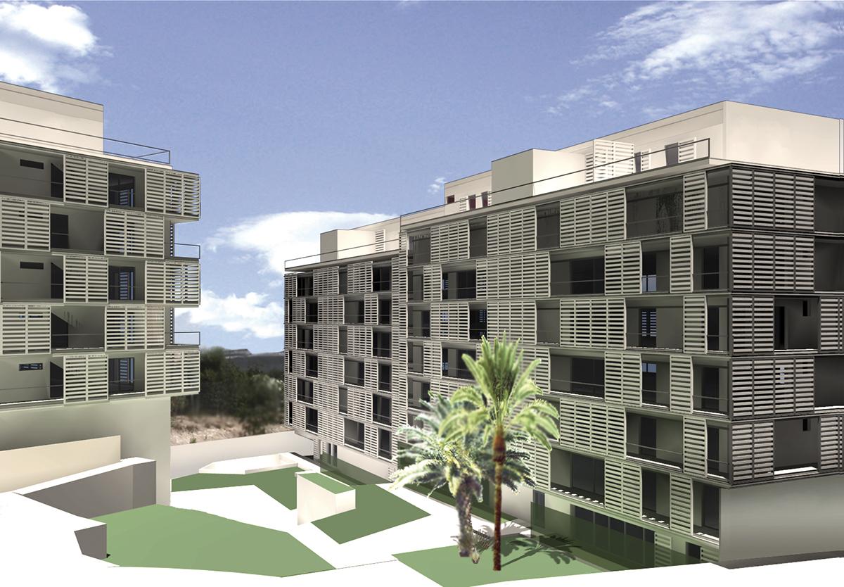 Concurso para un edificio de 75 viviendas